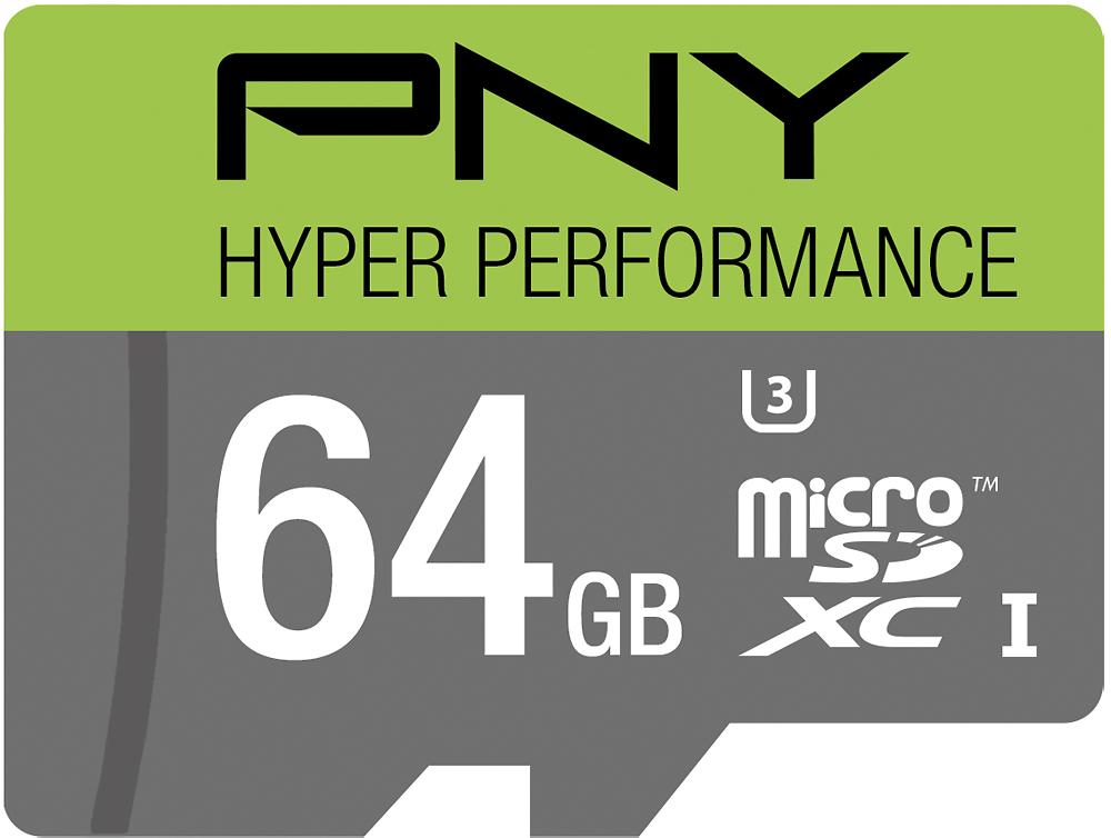PNY - 64GB microSDHC Class 10 UHS-I/U3 Memory Card - Multi