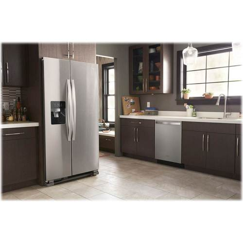 whirlpool side by side refrigerator stainless steel 21.7 cu ft sidebyside refrigerator whirlpool 245 cu ft sidebyside refrigerator stainless steel