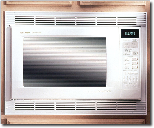 Sharp - 1.5 Cu. Ft. Mid-Size Convection Microwave - White