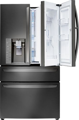 LG - 29.7 Cu. Ft. 4-Door Door-in-Door French Door Refrigerator - Black Stainless Steel