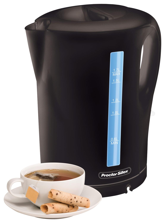 Proctor Silex - 1.7L Cordless Electric Kettle - Black