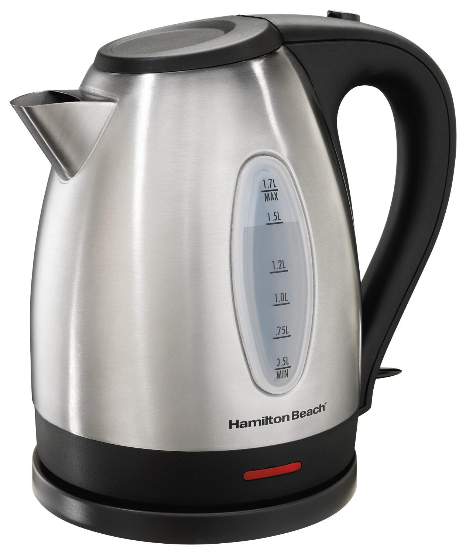 Hamilton Beach - 7.2-Cup Electric Kettle - Silver/Black