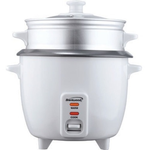 Brentwood Appliances TS-180S 8-Cup Rice Cooker with Steamer