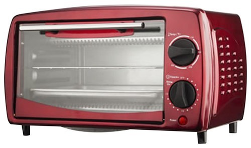 Brentwood - 4-Slice Toaster Oven - Empire Red