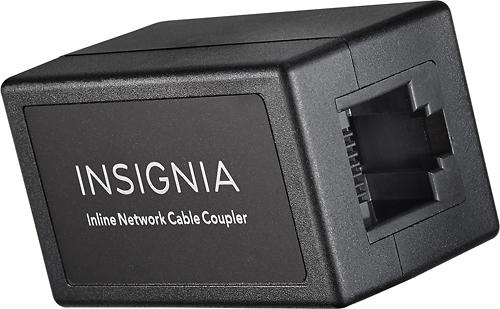 Insignia™ - Cat-5/5e RJ-45 In-Line Coupler - Black
