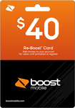 Boost Mobile - $40 Top-Up Prepaid Card