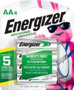 Energizer - Rechargeable AA Batteries (4-Pack) - Silver