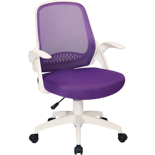 Avesix Jackson Home Office Fabric And Mesh Chair Purple Larger Front