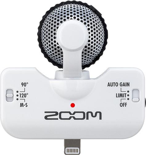 Zoom - iQ5 Stereo Condenser Microphone - White