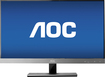 "AOC - 27"" Widescreen Flat-Panel IPS LED HD Monitor - Piano Black/Silver"