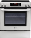 "LG - 30"" Self-Cleaning Slide-In Electric Convection Range - Stainless-Steel"