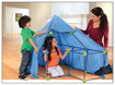 Discovery Kids - Build and Play 77-Piece Construction Fort Set - Blue