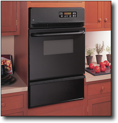 GE - 24 Built-in Single Gas Wall Oven - Black (Special Order)