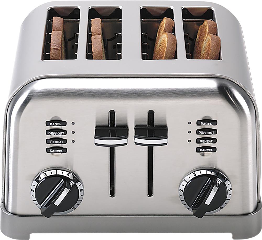 Cuisinart - 4-Slice Toaster - Brushed Chrome