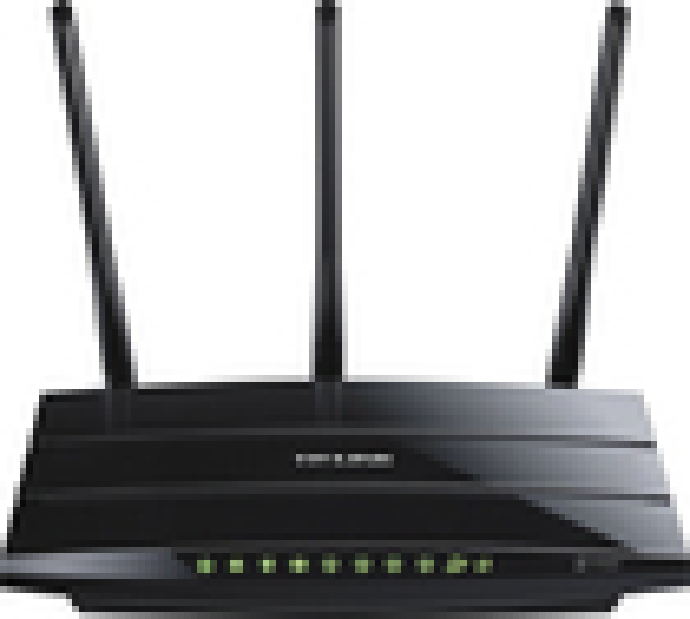 TP-LINK - N750 802.11a/b/g/n Wireless Dual-Band Gigabit Router - Black