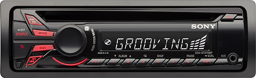 Sony CDX-GT270MP Car CD/MP3 Player - 68 W RMS - iPod/iPhone Compatible - Single DIN - LCD Display - CD-RW - CD-DA, MP3, WMA - AM, FM - 18, 12 x FM, AM Preset - Auxiliary Input - Detachable Front Panel