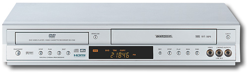 Progressive-Scan DVD Player/4-Head Hi-Fi Stereo VCR Combo with WMA/MP3 Playback 6315285