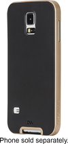 Case-Mate - Slim Tough Bumper Case for Samsung Galaxy S 5 Cell Phones - Gold/Black