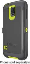 OtterBox - Defender Series Shell Case for Samsung Galaxy S 5 Cell Phones - Citron Green/Slate Gray