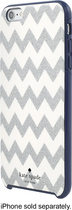 Kate Spade New York - Hard Shell Case For Apple Iphone 6 Plus And 6s Plus - Chevron Glitter Silver\/navy