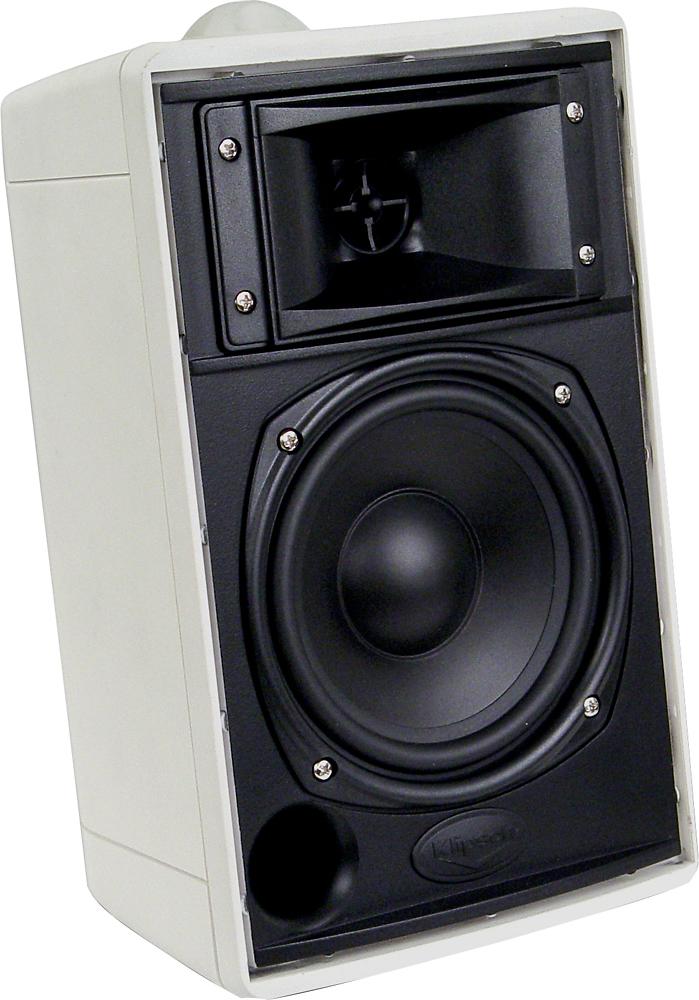 Klipsch - 2-Way Indoor/Outdoor Speakers (Pair) - White