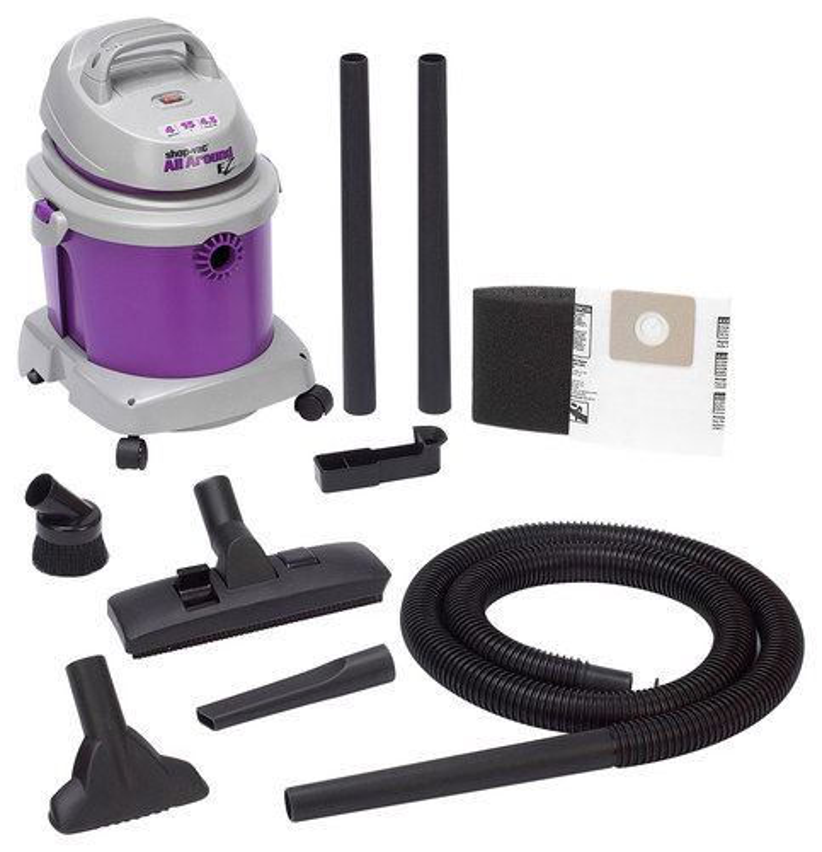 Shop-Vac - All Around 4-Gal. Wet/Dry Vacuum - Purple/Gray