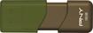 PNY - Attaché 3 16GB USB 2.0 Type A Flash Drive - Brown/Green