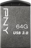 PNY - Micro Metal 64GB USB 3.0 Type A Flash Drive - Silver