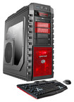 CybertronPC - Torque V Desktop - AMD FX-Series - 32GB Memory - 2TB Hard Drive + 120GB Solid State Drive - Black/Red