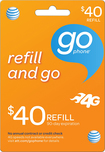 AT&T GoPhone - $40 Top-Up Prepaid Card - Orange