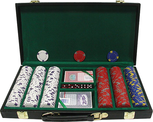 Trademark Commerce 10-1500-300d 300 13 Gm Pro Clay Casino Chips W/ Deluxe Case