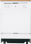 "GE - 25"" Convertible Portable Dishwasher - White-on-White"