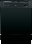 "GE - 25"" Convertible Portable Dishwasher - Black-on-Black"