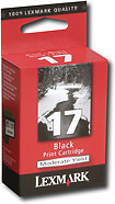 LEXMARK INTERNATIONAL - LEXMARK 17 Black Ink Cartridge