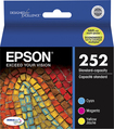 Epson - 252 3-Pack Ink Cartridges - Cyan/Magenta/Yellow