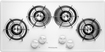 """Frigidaire - 36"""" Built-In Gas Cooktop - White"""