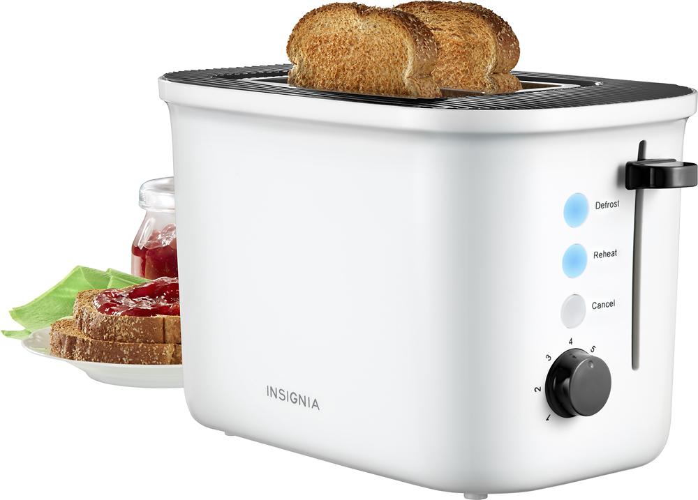 Insignia™ - 2-Slice Toaster - White/Black