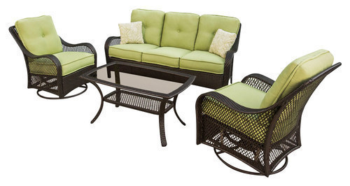 Hanover - Orleans Patio Lounge Set (4-Piece) - Green