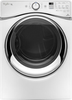 Whirlpool - Duet 7.4 Cu. Ft. 10-Cycle Steam Electric Dryer - White