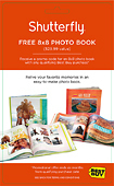 "Shutterfly - $29.99 Credit for 8"" x 8"" Photo Book"
