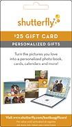 Shutterfly - $25 Gift Card