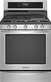 "KitchenAid - Architect Series II 30"" Self-Cleaning Freestanding Gas Convection Range - Stainless-Steel"