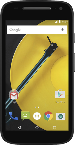 At&t GoPhone - Motorola Moto E with 8GB Memory Prepaid Cell Phone - Black
