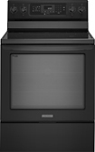 "KitchenAid - Architect II 30"" Self-Cleaning Freestanding Electric Convection Range - Black"