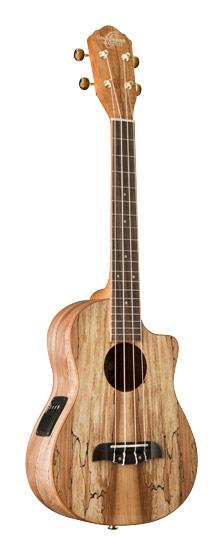 Oscar Schmidt - 4-String Full-Size Single-Cutaway Tenor Ukulele - Brown
