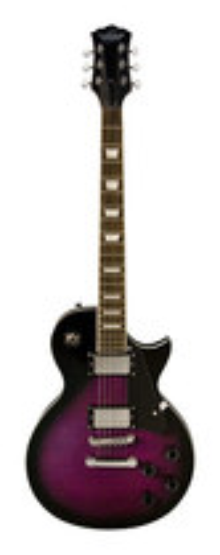 Oscar Schmidt - 6-String Full-Size Single-Cutaway Electric Guitar - Flame Transparent Purple Burst