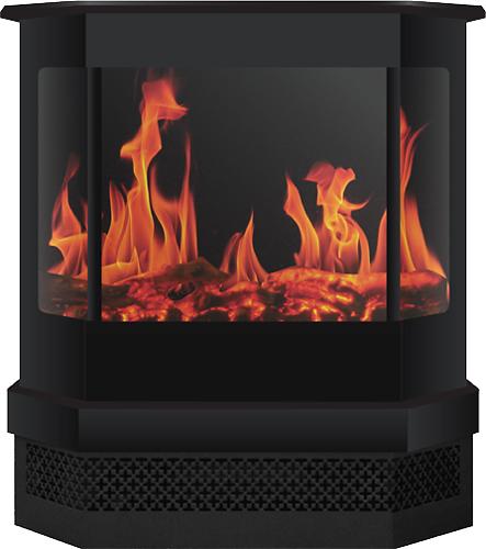 Frigidaire - Cleveland Freestanding Electric Fireplace - Black