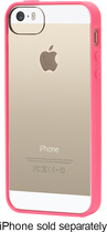 Griffin Technology - Reveal Case for Apple® iPhone® 5 and 5s - Fluoro Fire/Clear