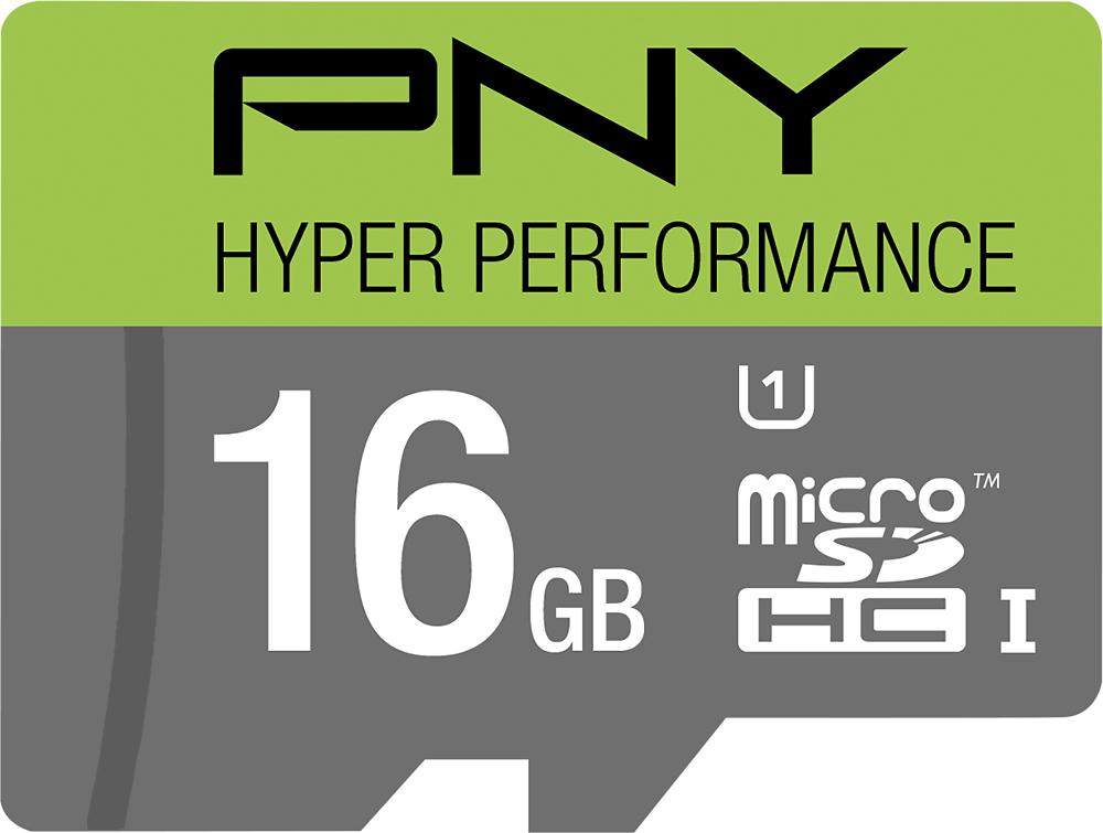 PNY - 16GB microSDHC Class 10 UHS-I/U1 Memory Card - Multi