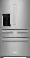 KitchenAid - 25.8 Cu. Ft. 5-Door French Door Refrigerator - Stainless-Steel